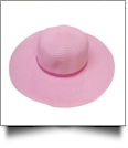 Kid's Wide Brim Floppy Hat Embroidery Blanks - LIGHT PINK/HOT PINK