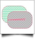 The Coral Palms™ Swimsuit Saver Junior Neoprene Mat - CHEVRON & CIRCLES - CLOSEOUT