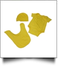 Romper, Hat & Bib Embroidery Blank Set - YELLOW - CLOSEOUT