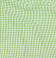 "Gingham Pre-Cut Fabric 9"" x 55"" Piece For Applique - LIME - CLOSEOUT"