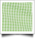 "Gingham Pre-Cut Fabric 9"" x 55"" Piece For Applique - LIME"