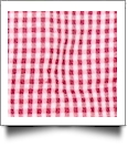 "Gingham Pre-Cut Fabric 9"" x 55"" Piece For Applique - RED"
