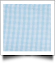 "Gingham Pre-Cut Fabric 9"" x 55"" Piece For Applique - AQUA - CLOSEOUT"