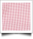 "Gingham Pre-Cut Fabric 9"" x 55"" Piece For Applique - PINK - CLOSEOUT"