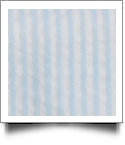 "Seersucker Pre-Cut Fabric 9"" x 55"" Piece For Applique - AQUA - CLOSEOUT"