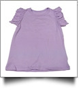 Flutter Sleeve Shirt Embroidery Blank - LAVENDER - CLOSEOUT