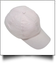 The Coral Palms® Seersucker Unstructured 6 Panel Baseball Hat - LIGHT PINK