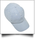 The Coral Palms® Seersucker Unstructured 6 Panel Baseball Hat - BLUE