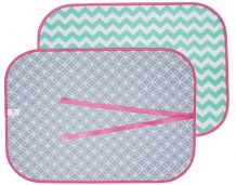 The Coral Palms® Swimsuit Saver Roll-up Neoprene Mat - CHEVRON & CIRCLES