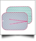 The Coral Palms™ Swimsuit Saver Roll-up Neoprene Mat - CHEVRON & CIRCLES