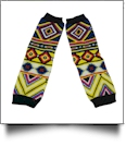 Chevron Tribal Print Baby Leg Warmers - MULTI-COLOR - CLOSEOUT