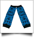 Tribal Print Baby Leg Warmers - BLUE - CLOSEOUT