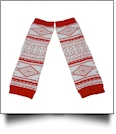 Tribal Print Baby Leg Warmers - RED/WHITE - CLOSEOUT