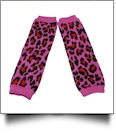 Leopard Print Baby Leg Warmers - HOT PINK - CLOSEOUT