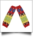 Tribal Print Baby Leg Warmers - MULTI-COLOR - CLOSEOUT