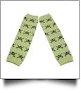 Halloween Print Baby Leg Warmers - SKULLS - CLOSEOUT