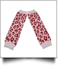 Leopard Print Baby Leg Warmers - PINK & RED - CLOSEOUT