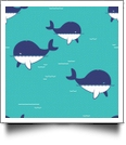 Whaley Cute in AQUA - QuickStitch Embroidery Paper - One 8.5in x 11in Sheet