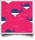 Whaley Cute in HOT PINK - QuickStitch Embroidery Paper - One 8.5in x 11in Sheet