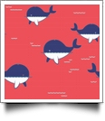 Whaley Cute in CORAL - QuickStitch Embroidery Paper - One 8.5in x 11in Sheet