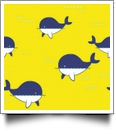 Whaley Cute in YELLOW - QuickStitch Embroidery Paper - One 8.5in x 11in Sheet