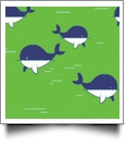 Whaley Cute in LIME GREEN - QuickStitch Embroidery Paper - One 8.5in x 11in Sheet