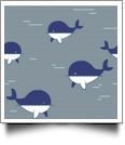 Whaley Cute in GRAY - QuickStitch Embroidery Paper - One 8.5in x 11in Sheet