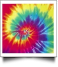 Tie Dye - QuickStitch Embroidery Paper - One 8.5in x 11in Sheet