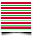"9"" x 66"" Piece of Pre-Cut Christmas Fabric For Applique - CANDY CANE STRIPES  - CLOSEOUT"