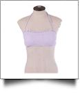 Seersucker Bandeau Bikini Swimsuit Top - LAVENDER - CLOSEOUT