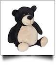 Embroidery Buddy Stuffed Animal - Billy Black Bear 16""