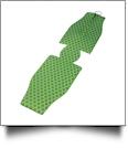 Unsewn Premium Designer 12oz Neoprene Long Neck Zipper Bottle Koozie Embroidery Blanks - QUATREFOIL - SUMMER CLOSEOUT