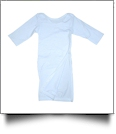 The Coral Palms� EasyStitch Newborn Layette Gown with Invisible Zipper for Easy Embroidery - WHITE