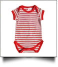 Christmas Infant Snapsuit - CANDY CANE STRIPES - CLOSEOUT
