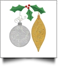 Iridescent Christmas Ornaments Embroidery Designs by Amazing Designs on a Multi-Format CD-ROM ADC-267