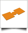 Unsewn 12oz Can Koozie Embroidery Blanks - BRIGHT ORANGE
