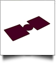 Unsewn 12oz Can Koozie Embroidery Blanks - BURGUNDY