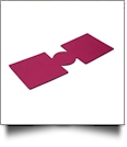 Unsewn 12oz Can Koozie Embroidery Blanks - MAGENTA