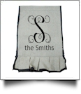 EasyStitch 2-Sided Ruffle Garden Banner Flag - BLACK TRIM