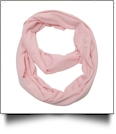 Soft & Cozy Infinity Scarf Embroidery Blanks - LIGHT PINK - CLOSEOUT