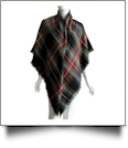 Designer-Style Tartan Checked Plaid Blanket Scarf - GREEN/RED - CLOSEOUT