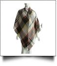 Designer-Style Plaid Blanket Scarf - BEIGE/ORANGE - CLOSEOUT