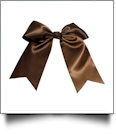 Oversized Cheer Bow - CHOCOLATE BROWN - CLOSEOUT