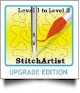 StitchArtist UPGRADE from Level 1 to Level 2 by Embrilliance Embroidery Software DOWNLOADABLE