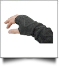 Fingerless Cable Knit Slouch Gloves - DARK GRAY - CLOSEOUT