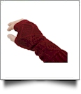 Fingerless Cable Knit Slouch Gloves - BORDEAUX - CLOSEOUT