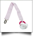 Diagonal Stripe Print Pacifier Holder Clip - LIGHT PINK - CLOSEOUT