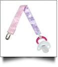 Mini Dot & Bow Print Pacifier Holder Clip - MULTI - CLOSEOUT