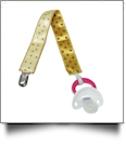 Polka Dot Print Pacifier Holder Clip - MULTI - CLOSEOUT