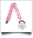 Jumbo Polka Dot Print Pacifier Holder Clip - MULTI - CLOSEOUT